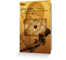 Love letter'... Greeting Card