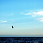 Blue sky over the Mediterranean by onlyalice