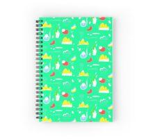 Green Cactus Mountain Spiral Notebook