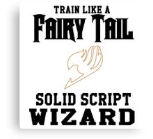 Fairy Tail - Train like Levy! Canvas Print