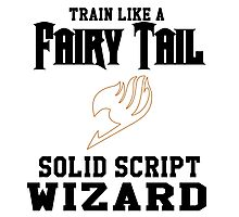 Fairy Tail - Train like Levy! Photographic Print