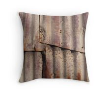 Rusty Wall Throw Pillow
