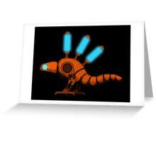 Bipedal Steam Gecko Greeting Card