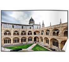 Lisboa (Portugal). Claustro del Monasterio de los Jerónimos. Poster