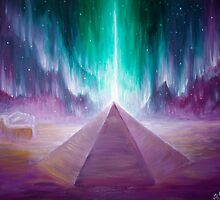 The aurora and the energy of the Cydonia pyramid on Mars by Corina Chirila