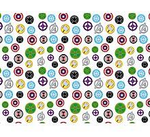 Avengers Pattern #2, white varient Photographic Print