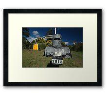 Letterbox (Ned Kelly helmet-shaped), Lue, NSW, Australia Framed Print