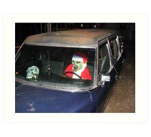 zombie santa Art Print