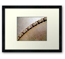 Chain & Sprocket Framed Print