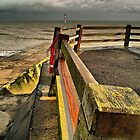Winter Sea at Broadstairs harbour by tallview