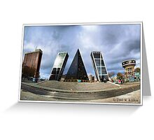 Madrid. Plaza de Castilla. Greeting Card