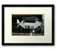 Aeroplane-shaped Letterbox, Albion Park Airport, Australia Framed Print