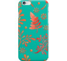 - Red leaves pattern 2 - iPhone Case/Skin