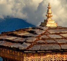 a historic Bhutan landscape Sticker