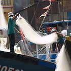 peoplescapes #90, drying fishing nets by stickelsimages