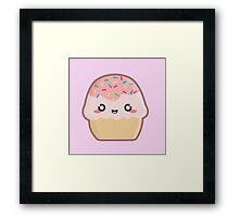 Kawaii Cupcake Framed Print