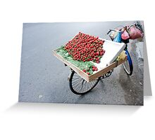 Parked Strawberries Greeting Card