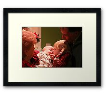 Christmas Kiss Framed Print