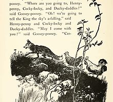 English Fairy Tales by Flora Annie Webster Steel art Arthur Rackham 1922 0270 Fox, Henny Penny, Cocky Locky by wetdryvac