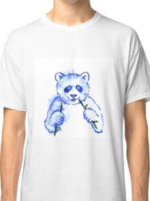 Funny watercolor panda eat bamboo.  Classic T-Shirt