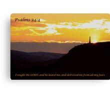 Psalms 34:4 Canvas Print