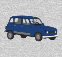Renault 4 GTL Blue One Piece - Long Sleeve