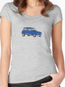 Renault 4 GTL Blue Women's Fitted Scoop T-Shirt