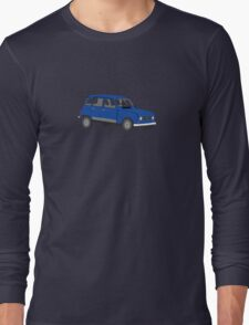 Renault 4 GTL Blue Long Sleeve T-Shirt