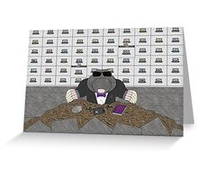 Agent Mole Greeting Card