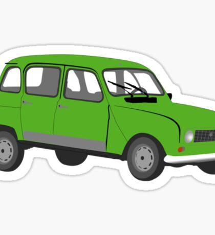 Renault 4 GTL Green Sticker