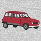 Renault 4 GTL Red by MangaKid