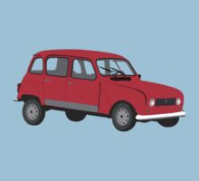 Renault 4 GTL Red Kids Clothes
