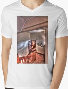 Upstairs, down stairs. Mens V-Neck T-Shirt