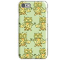 Cute owl pattern. Coffee pattern. Funny animals pattern. iPhone Case/Skin
