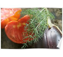 Summer Vegetables Poster