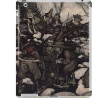 Rip Van Winkle by Washington Irving art Arthur Rackham 1919 0067 A Company of Odd Looking Persons Playing at Nine Pins iPad Case/Skin