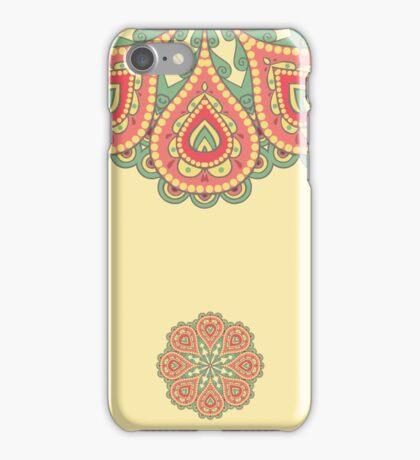 Oriental round ornament. Decorative element border. iPhone Case/Skin