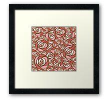 Roses pattern.  Framed Print