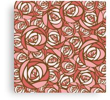 Roses pattern.  Canvas Print