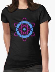 Retro Atom Symbol Graphic T-Shirt Womens Fitted T-Shirt