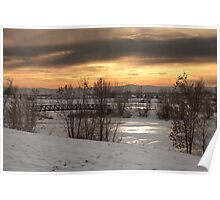 Cold Evening in Adams County Regional Park Poster