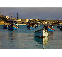 Marsaxlokk Boats  Photographic Print