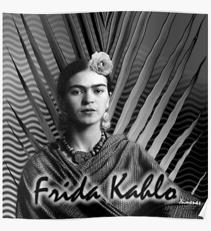 At the Beach with Frida Kahlo (Ver 1) Poster
