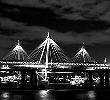 """The Night Bridge Across The Thames"" by Bradley Shawn  Rabon"