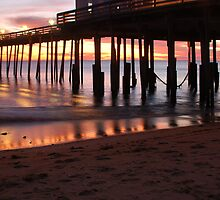 Kitty Hawk Pier Sunrise by Angel Perry