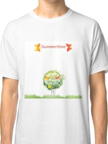 Blooming watercolor tree Classic T-Shirt