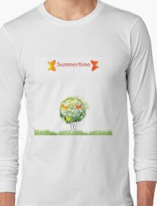 Blooming watercolor tree Long Sleeve T-Shirt