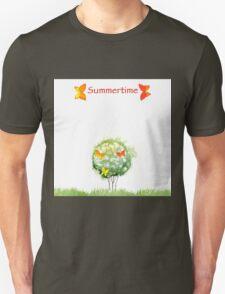 Blooming watercolor tree T-Shirt