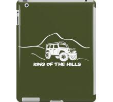 'King of the Hills' Jeep Wrangler 4x4 Sticker T-Shirt Design - White iPad Case/Skin