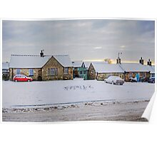 Dalmeny Village in the Snow Poster